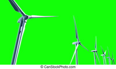 Wind Turbines, seamless Loop - You can change background or...