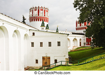 Musketeers at Sentry Naprudnom tower of Novodevichy Convent,...