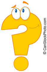 Question Mark Cartoon Character