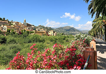 Town of Ventimiglia. Italy. - View on old town of...