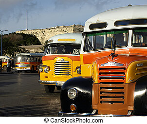 Malta Bus - The legendary and iconic Malta public buses