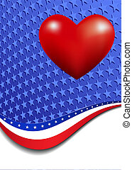 Stars and Stripes Portrait   Heart