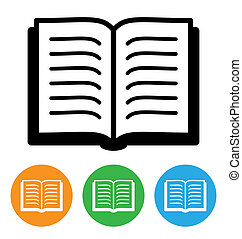 open book icon isolated on white