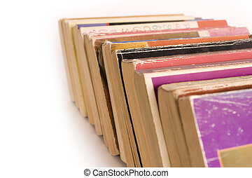 Row of Old Paperback Book - Row of colorful old paperback...