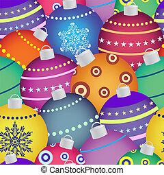 christmas balls - Vector illustration of colorful christmas...