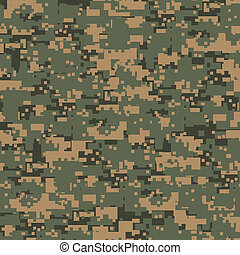 Green digital camouflage seamless pattern
