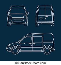 Compact delivery van blueprint