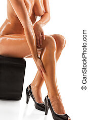 Elegant nude woman - Elegant adult beautifu nude woman,...
