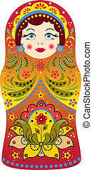 matryoshka - Vector illustration of russian doll matryoshka...