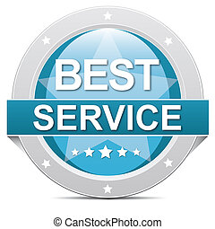 best service button - blue best service button banner on...