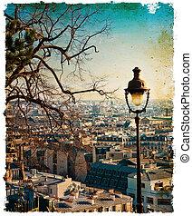 retro style Parisian streets - retro style in...