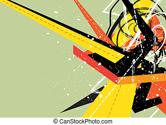 abstract colorful arrow