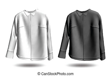 Black and white jakets Vector - Models of man black jacket...