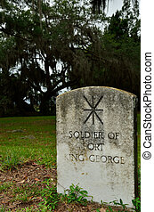 Fort King George Soldier Grave