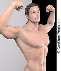 strengthen - a male model in a pose
