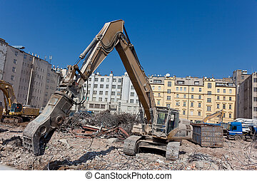 Crushing machine - Concrete crushing and dismantling machine