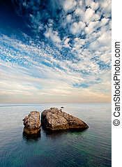Large rocks in the sea