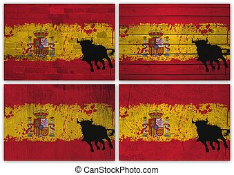 Spanish flag collage
