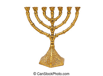 Menorah isolated on the white background