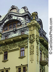 Building in Odessa, Ukraine - Piece of Art Nouveau buildings...