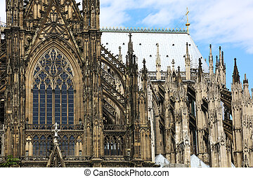 Cologne Cathedral - the south transept facade of the Cologne...