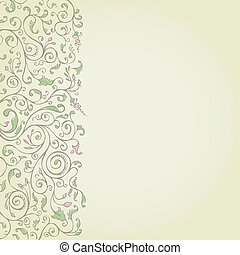 Flower pattern on a yellow background vector illustration