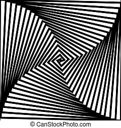 Black and white hypnotic background.