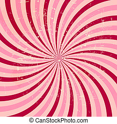 Strawberry, cream abstract hypnotic background vector...