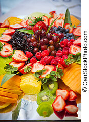 Fruit Platter - tray of various delicious fruits