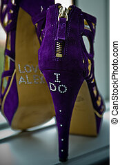 Purple Bridal Shoes - purple high heels for a wedding,...