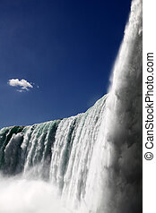 Niagara Falls - The view of the horse shoe falls on the blue...
