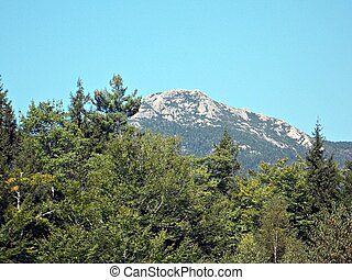 Mt Chocorua is located in Tamworth, NH at base of the White...