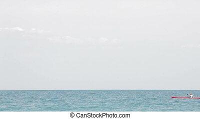 Kayak boat in the sea
