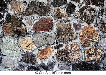 Unusual Stone Wall of Various Shape - Background textured...