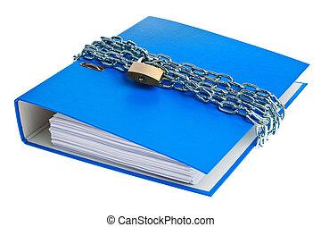 cartelle, chiuso chiave,  file, catena