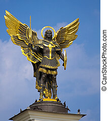 Archangel Michael Saint patron of Kiev in independence...