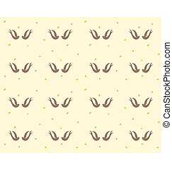 Swallows bird pattern - A simple illustration of a couple of...