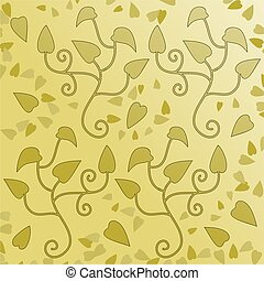 leafy decorative ornamental patterned background design