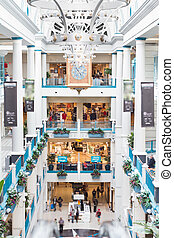 Luxury shopping center with classic colonnade. - Luxury...