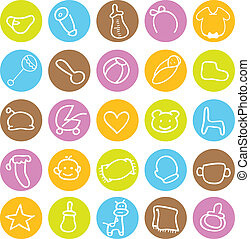 baby icons for designs and others