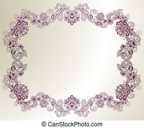 Abstract Floral Frame 2 - Illustration of abstract floral...