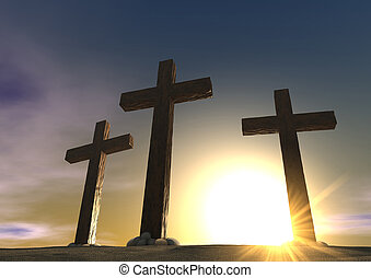 The Crucifixion Close - An impression of the three crosses...