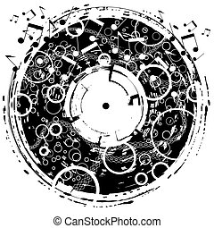 Disk grunge - Abstract music design