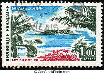 Stamp Guadeloupe - CIRCA 1970: A stamp showing Guadeloupe,...
