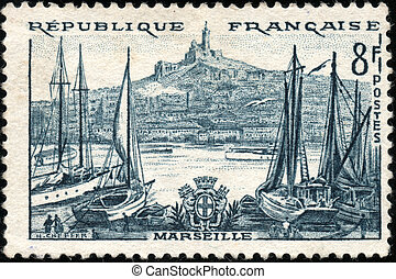Stamp Marseille - A stamp showing Marseille en France