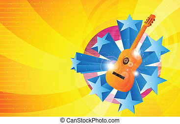 Glorious Music - Illustration of music background with...