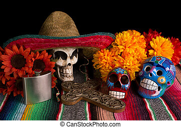 Dia De Los Muertos - Day of The Dead Alter - Traditional Dia...