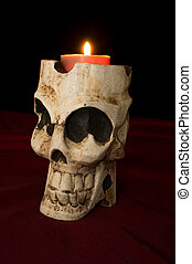 Day of The Dead Skull Candle - Day of The Dead Dia de los...