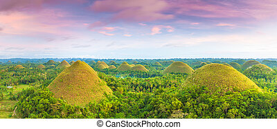 Chocolate Hills - View of The Chocolate Hills Bohol,...
