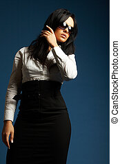 Portrait of business woman - Portrait of a beautiful young...